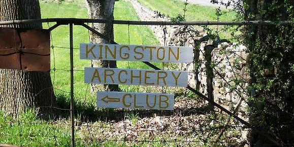 Front gate - Kingston Archery Club